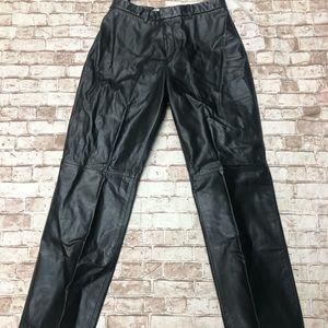 Nine West black leather pants size 8